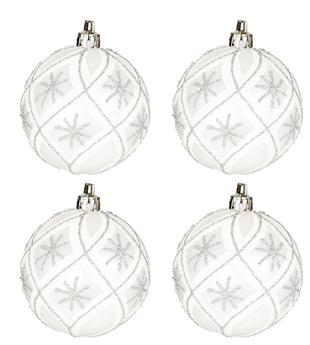 Imagen de Adorno bolas árbol blancas (4)