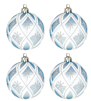 Imagen de Adorno bolas arbol blanca y azul (4)