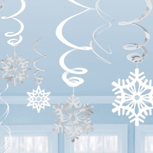 Copos De Nieve Para Decorar Fiesta Frozen.Decorados Espirales Copos De Nieve 12