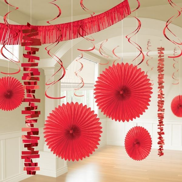 Picture of Kit decoración colgante roja (18)