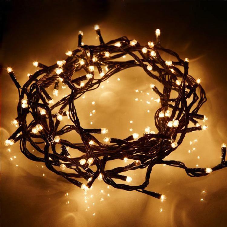Guirnalda luces blancas exterior 5mts env o en 24h desde 3 99 fiestafacil Luces navidad exterior sin enchufe