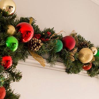 Imagens de Guirnalda verde Navidad 210cm