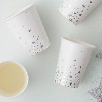 Imagen de Vasos estrellas plata (8)