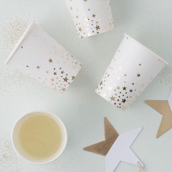 Imagen de Vasos estrellas doradas (8)