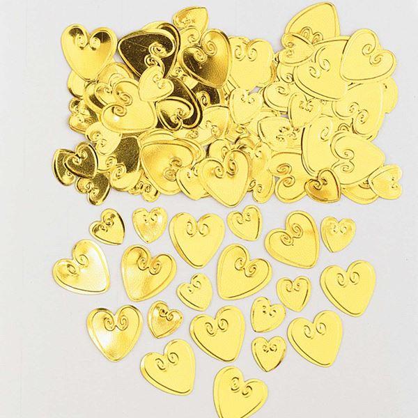 Imagens de Confeti corazones dorados (14g)
