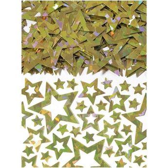 Imagens de Confeti estrellas doradas troquelado (14g)