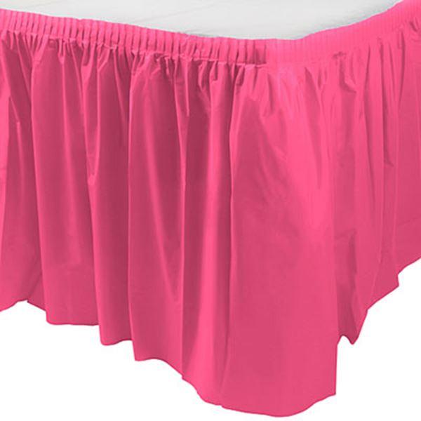 Imagen de Falda de mesa rosa