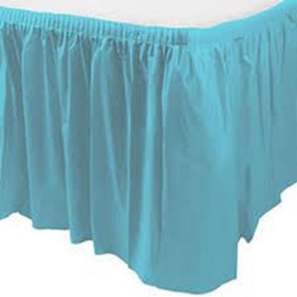 Picture of Falda de mesa azul caribeño