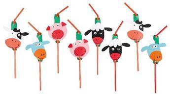Imagen de Pajitas animales granja (8)