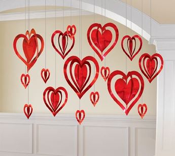 Picture of Decorados colgantes corazones 3D(16)