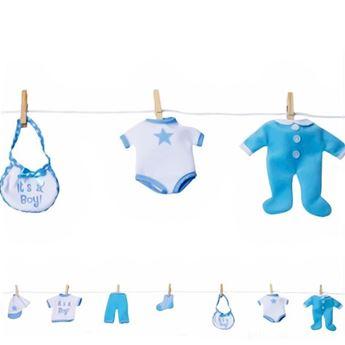 Imagens de Guirnalda bebé azul
