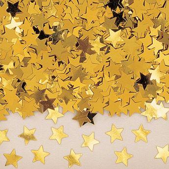 Imagen de Confeti estrellas doradas (14gr)