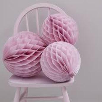 Imagens de Decorados bola nido de abeja rosa pastel (3)