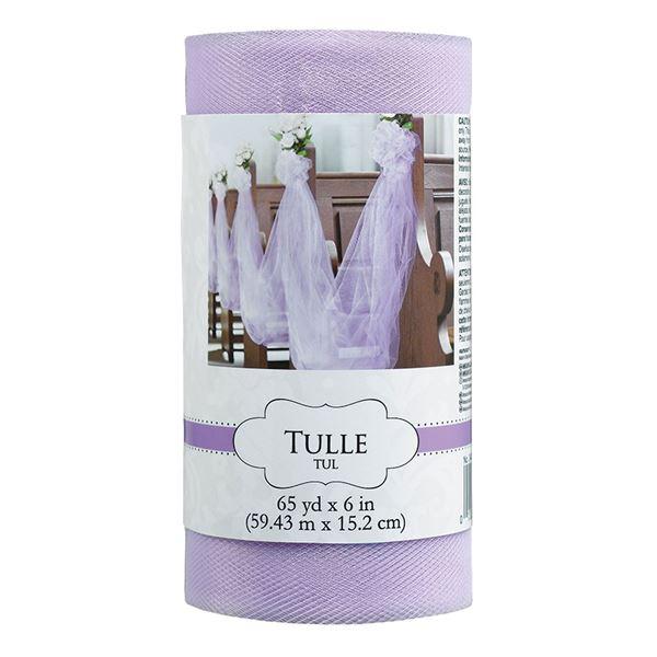 Imagens de Tul rollo color lila (59 m)