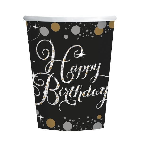 Picture of Vasos Happy Birthday elegantes (8)