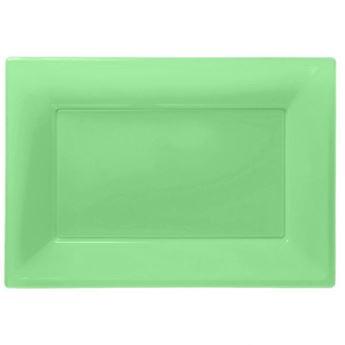 Imagen de Bandejas verde claro plástico (3)