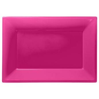 Imagens de Bandejas rosa plástico (3)