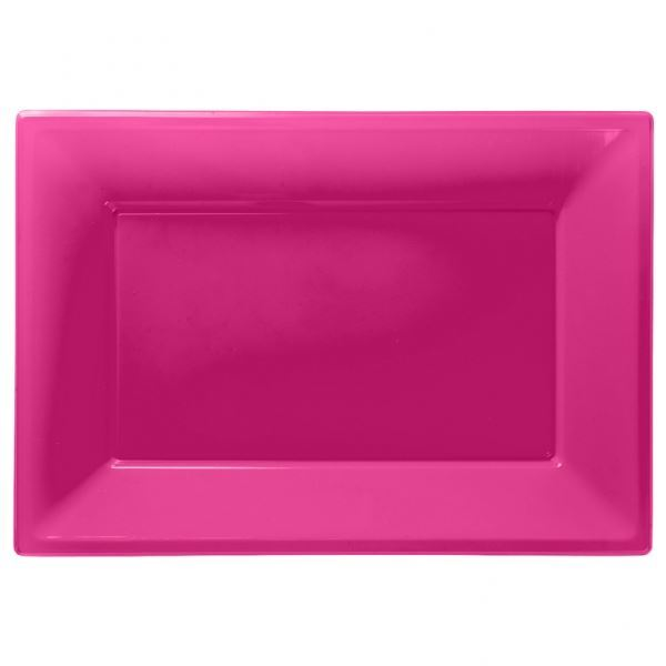 Imagen de Bandejas rosa plástico (3)