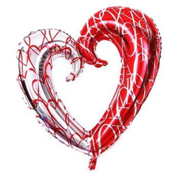 Imagen de Globo corazón rojo y plata