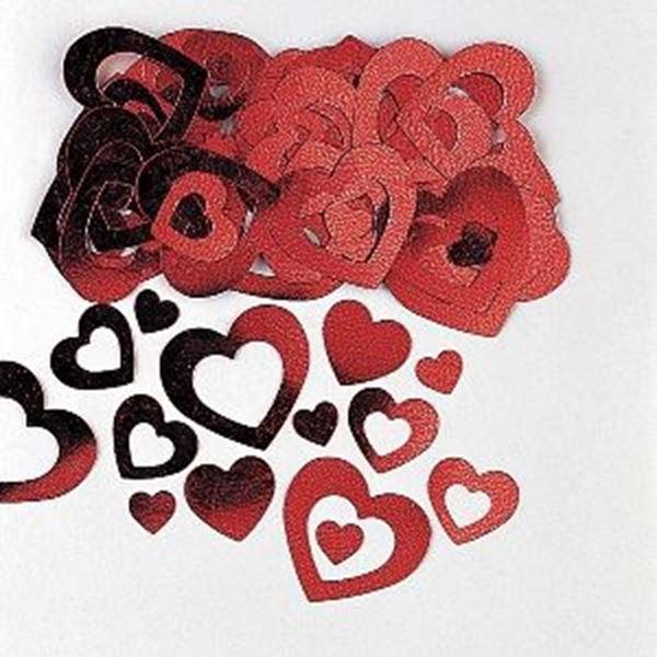 Imagens de Confeti corazones rojos (14g)