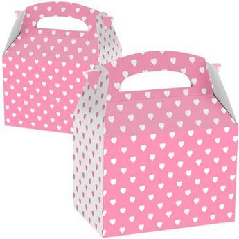 Imagens de Caja Rosa y blanca con corazones