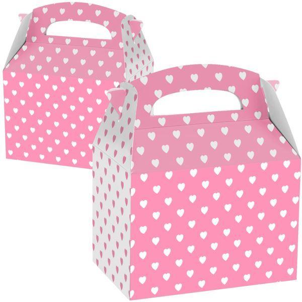 Picture of Caja Rosa y blanca con corazones