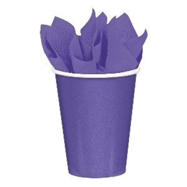 Imagen de Vasos morado claro de cartón (8)