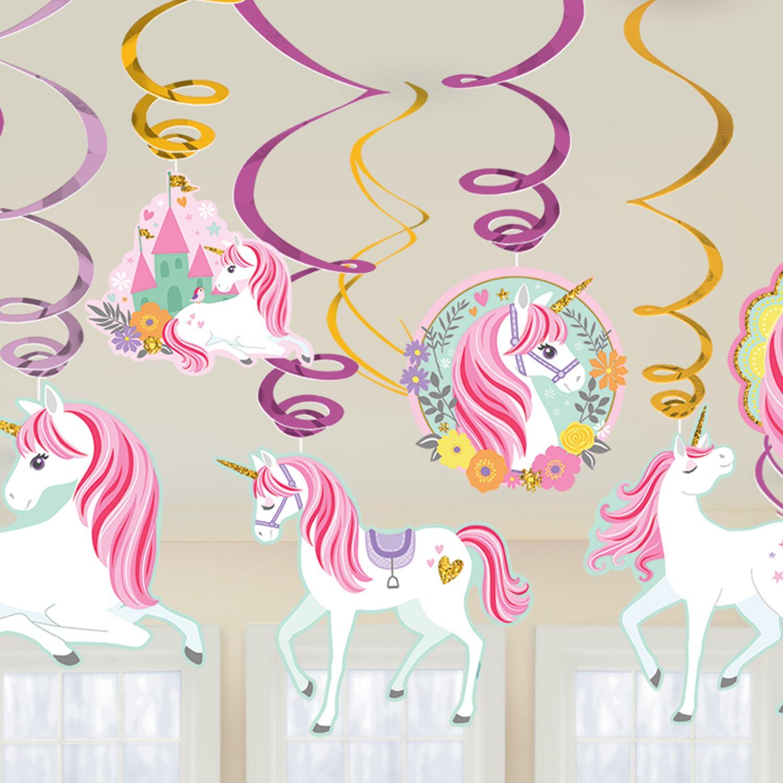 Decorados Espirales Unicornio Magico 12 Por Solo 4 75 Tienda