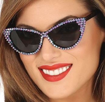 Picture of Gafas años 50 con brillantes