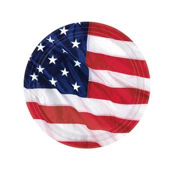 Imagen de Platos bandera USA pequeños (8)