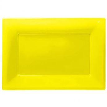 Imagen de Bandejas amarilla plástico (3)