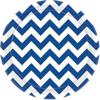 Picture of Platos chevron azul marino (8)