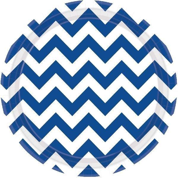 Imagen de Platos chevron azul marino (8)