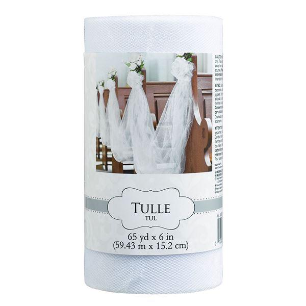 Imagens de Tul rollo color blanco (59 m)