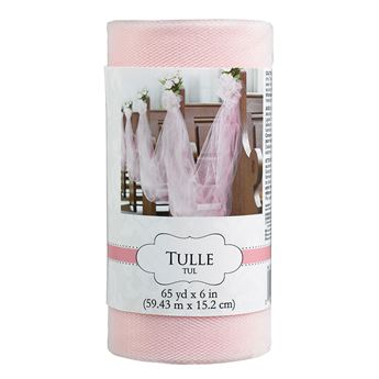 Imagen de Tul rollo color rosa claro (59 mts)