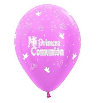 Imagens de Globos comunión rosa (10)
