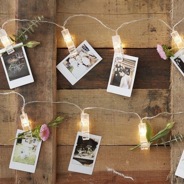 Imagens de Guirnalda luces led con pinzas (2m)
