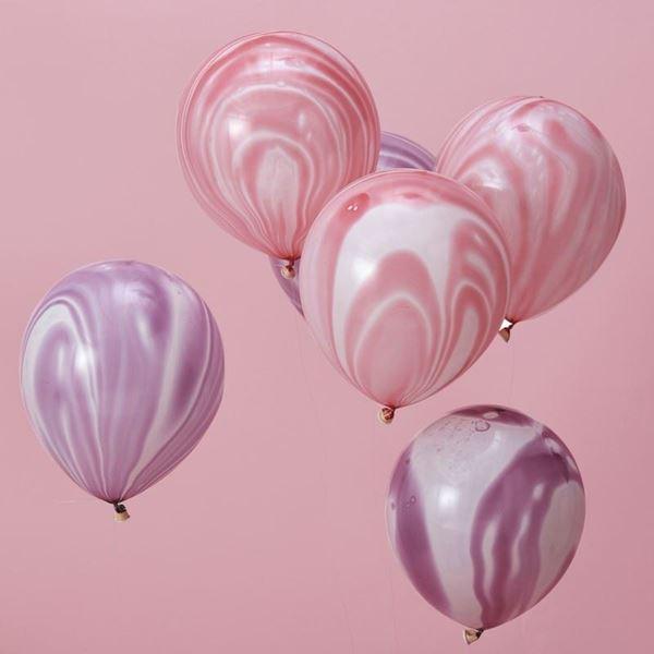 Imagen de Globos rosado y púrpura (10)
