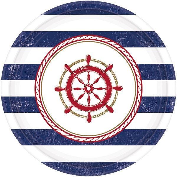 Imagens de Platos marinero levando anclas pequeños (8)
