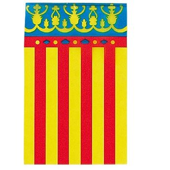 Imagen de Banderín bandera comunidad valenciana plástico (50m)