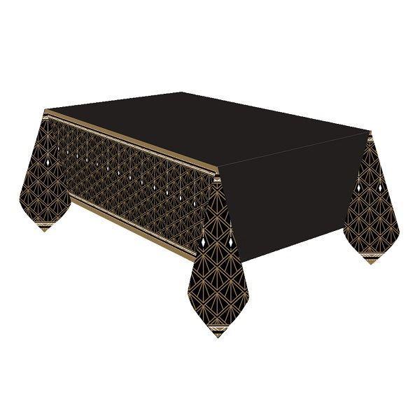Imagen de Mantel negro & dorado glamour