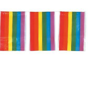 Imagen de Banderín arcoiris plástico (50m)