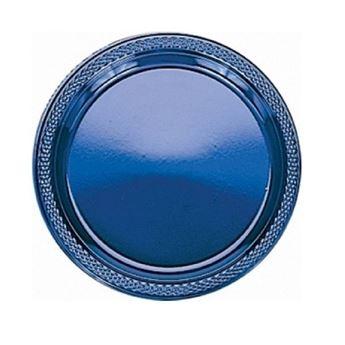 Imagen de Platos azul oscuro plástico pequeños (10)