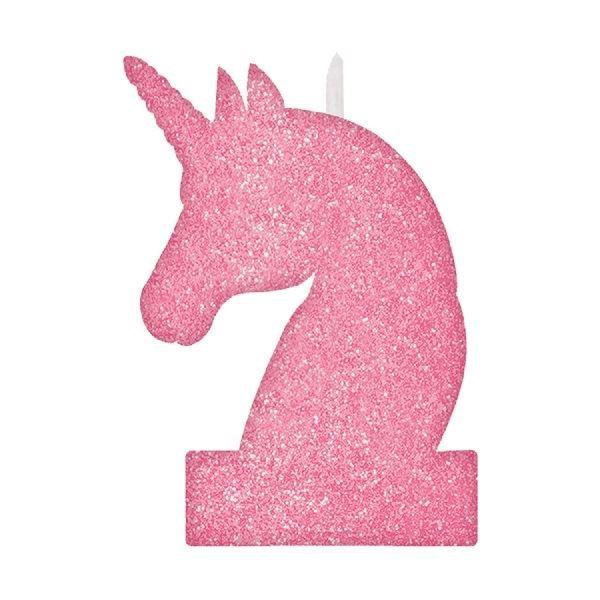 Picture of Vela Unicornio mágico rosa