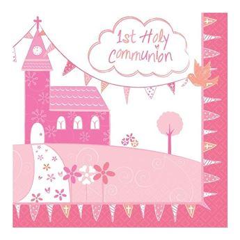 Picture of Servilletas comunión rosa iglesia (16)
