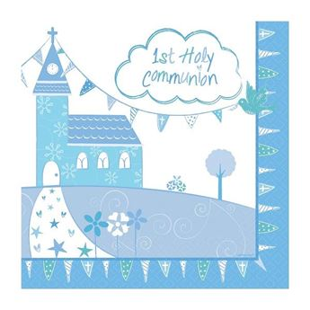Imagen de Servilletas comunión azul iglesia (16)