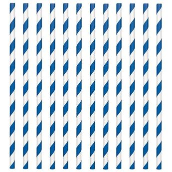 Imagen de Pajitas con rayas azul marino (24)