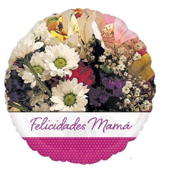 Imagen de Globo Felicidades mamá flores