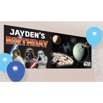 Imagen de Banner Star Wars personalizable