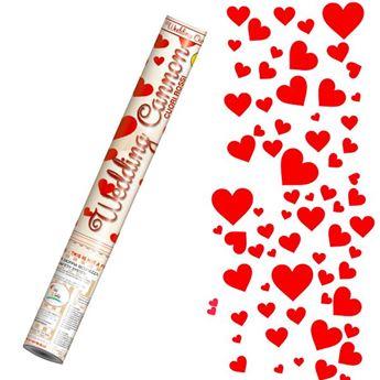 Picture of Lanzador de confeti corazones rojos 40cm